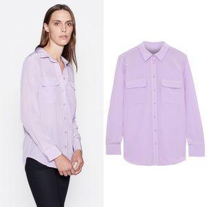 EQUIPMENT Slim Signature Silk Shirt Blouse Lilac